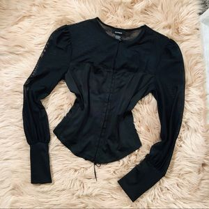 Express corset long sleeve top